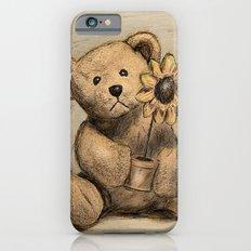 Teddybear with a sunflower Slim Case iPhone 6s