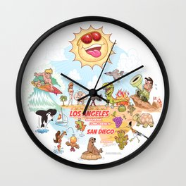Southern California Beach Paradise Wall Clock