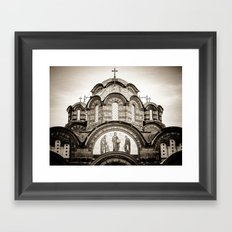 Monastery Katholikon in Greece Framed Art Print