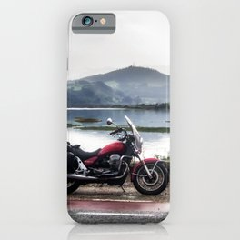 Motorcycle touring iPhone Case
