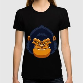 angry ape gorilla face T-shirt