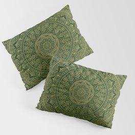 Mandala Royal - Green and Gold Pillow Sham