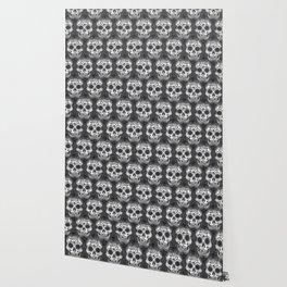 New skull allover pattern 1 Wallpaper