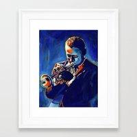 miles davis Framed Art Prints featuring Miles by Vel Verrept