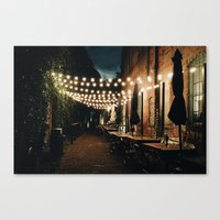 cafe Canvas Prints featuring Cafe by Jacbo