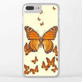 MONARCH BUTTERFLY SWARM Clear iPhone Case