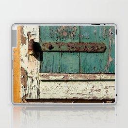 Old Wood an Rusty Grunge Barn Door Laptop & iPad Skin