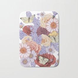Roses, Lilacs, and Daisies Bath Mat