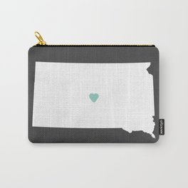 South Dakota Love in Charcoal Carry-All Pouch