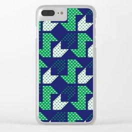 Clover&Nessie Denim/Spinach Clear iPhone Case
