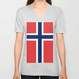 Norwegian Flag Unisex V-Neck
