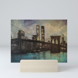 The Twin Towers, New York, NY Mini Art Print