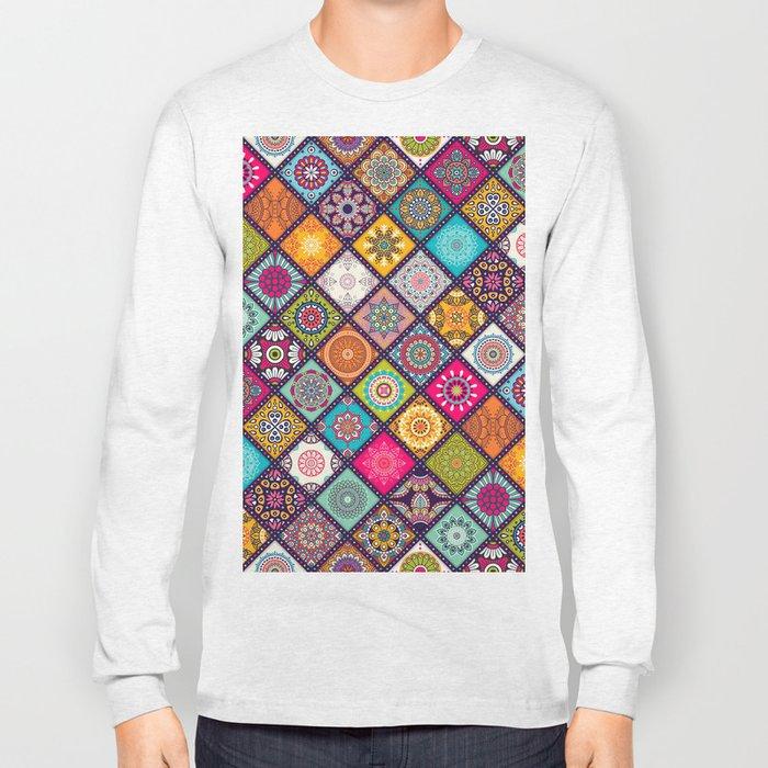 bohemian pattern Long Sleeve T-shirt
