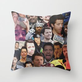 Misha Collins Collage Throw Pillow