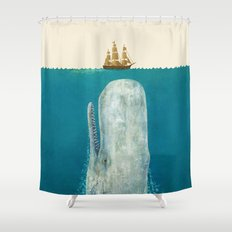 The Whale - colour option Shower Curtain