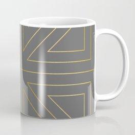Angled 2 Gold & Grey Coffee Mug