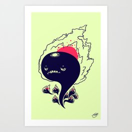 Flaming Squiggles Art Print