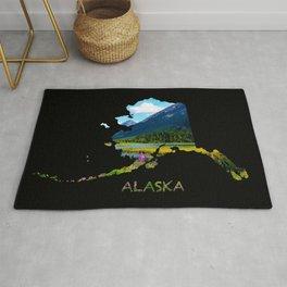 Alaska Outline - God's_Country Rug