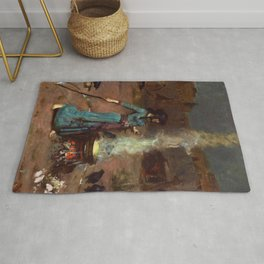 The Magic Circle John William Waterhouse Painting Rug