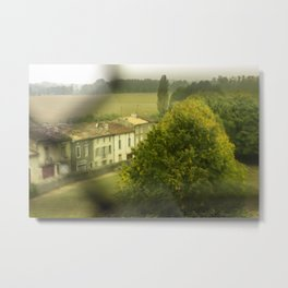 Rainy Window Days in the French Countryside Metal Print