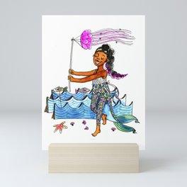 Little mermaid Mini Art Print