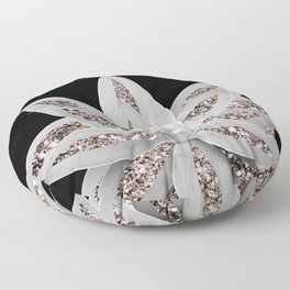 Gray Agave with Rose Gold Glitter #2 #shiny #tropical #decor #art #society6 Floor Pillow
