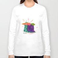 vegan Long Sleeve T-shirts featuring Vegan by Viktorija Eziukas