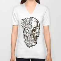 skeleton V-neck T-shirts featuring Skeleton by ViviRajski