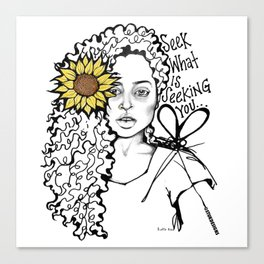 #STUKGIRL QUEEN Canvas Print