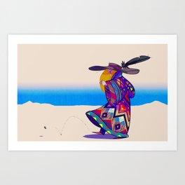Dune Girl Art Print