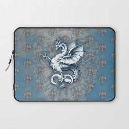 Noble House STEEL BLUE / Grungy heraldry design Laptop Sleeve