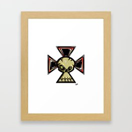 Skull Cross Framed Art Print