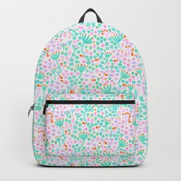 Flower Patch Pastel Pattern Backpack