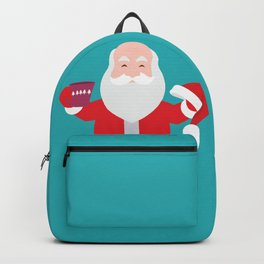 Have a A delightful cup of Christmas with Santa Claus Backpack