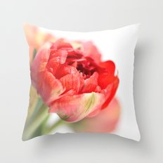 Peony Tulip... Throw Pillow