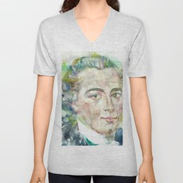 IMMANUEL KANT - watercolor portrait Unisex V-Neck
