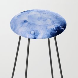Marbled Water Blue Counter Stool