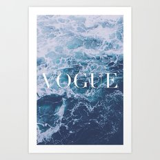 Vogue Waves Art Print