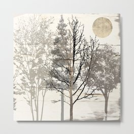 Moon Trees Metal Print