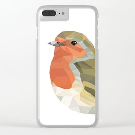 Geometric Robin artwork Bird Clear iPhone Case