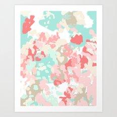 Branch - abstract minimal modern art office home decor dorm gender neutral bright happy painting Art Print