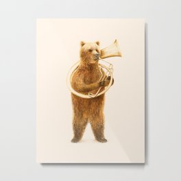 The Bear and his Helicon Metal Print