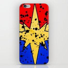 CaptainMarvel Splatter Logo iPhone Skin