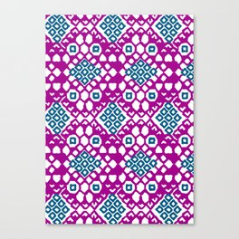 Purple Embroidery Canvas Print
