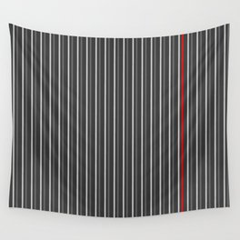 Grey Red stripes pattern Wall Tapestry