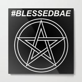 #BLESSEDBAE Metal Print
