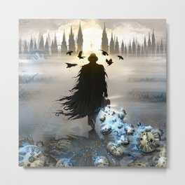 Trapped In Time - Steampunk illustration Metal Print