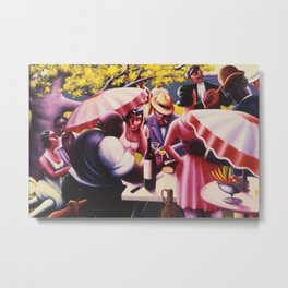 African-American 1926 Classical Masterpiece 'The Picnic' by Archibald Motley Metal Print