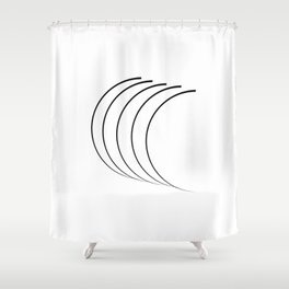 """"""" Eclipse Collection"""" - Minimal Letter C Print Shower Curtain"""