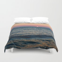 Dreamy Pastel Cape May Sunset Duvet Cover